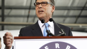 "Rick Perry: The former Texas Gov. speaks to supporters to announce the launch of his presidential campaign for the 2016 elections on June 4 in Addison, Texas. ""I have been tested,"" Perry said. ""I have led the most successful state in America."" (Associated Press)"